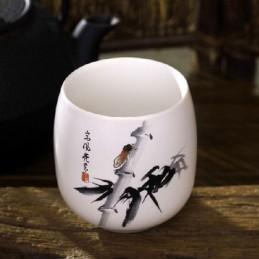 Tasse porcelaine dessin bambou