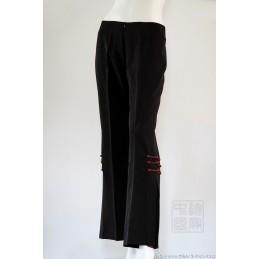 Pantalon Chinois noir à...