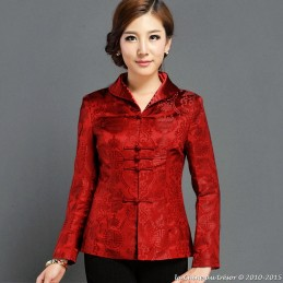 Veste chinoise rouge
