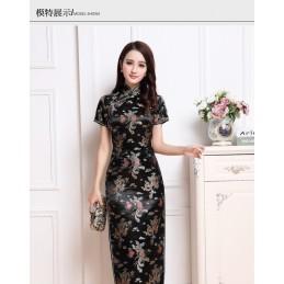 Robe Chinoise longue noir