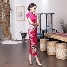Robe Chinoise longue fushia