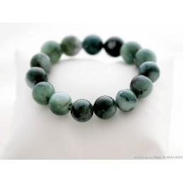 Bracelet boule en jade vert...