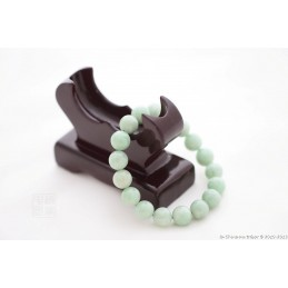 Bracelet boule en jade vert